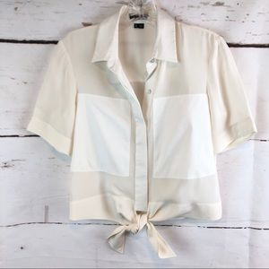 Theory | 100% Silk Tie Blouse, Size SP